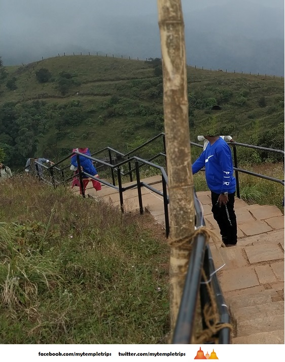 steps leading to top of the bhramagiri hills