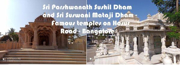 Sri Parshwanath Sushil Dham and Sri Suswani Mataji Dham – Famous temples on Hosur Road – Bangalore