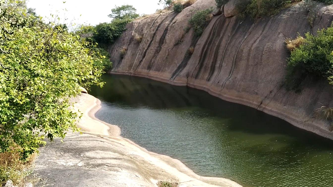 Sita Devi pond at Ramadevara Betta ( Ramanagara Hills )