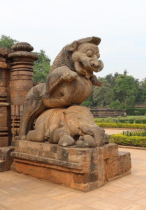 simha-gaja - konark sun temple